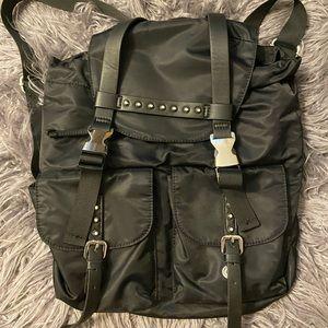 Topshop black studs details backpack